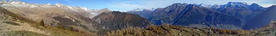 Panoramica scendendo dal Foggenhorn