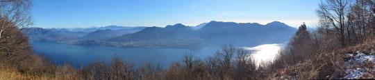 Il lago Maggiore dal Pizzo d'Omo m. 1075