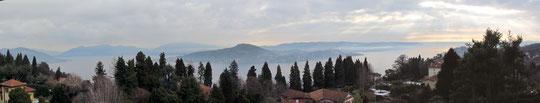Panoramica sul lago dalla Chiesa di S.Giovanni Battista a Dagnente
