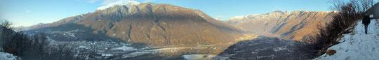A sinistra Gravellona, a destra Ornavasso