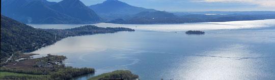La penisola di Verbania e il lago Maggiore