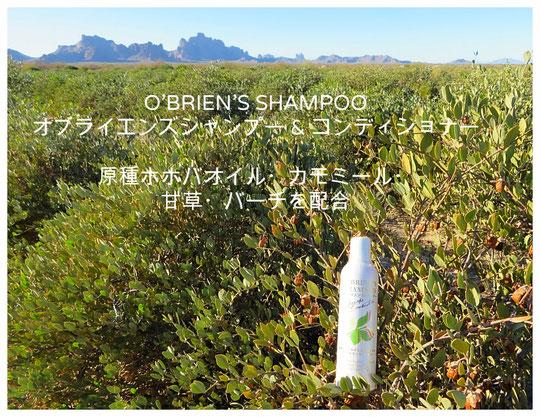 🔔 O'BRIEN'S SHAMPOO オブライエンズシャンプー&コンディショナー 原種ホホバオイル・カモミール・甘草・バーチを配合