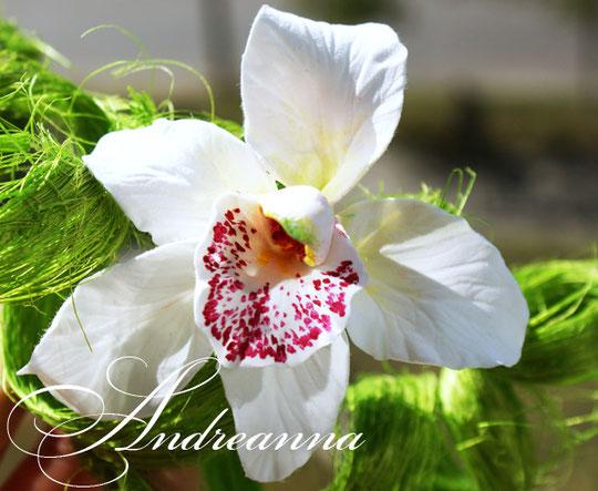 Экзотическая орхидея для волос, стоимость 100 грн (в любом цвете, разработка под будущий букет)