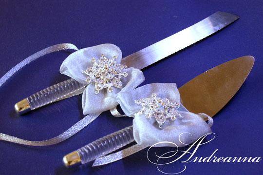 украшение для ножа и лопатки  «Снежная королева» в серебре, стоимость 2шт. 200грн.