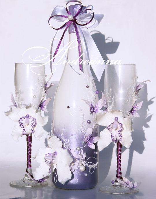 Шампанское «Лиловая орхидея Butterflies»,стоимость 650грн