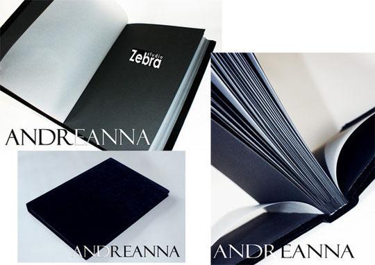 Альбом для фотографий. Ручной работы, бархат, матовая черная бумага, белая, матовая калька, логотип. Стоимость от 2000 грн.