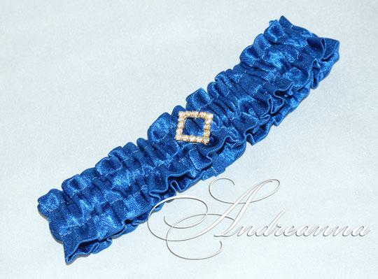 """Атласная подвязка """"Сапфир"""", стоимость 150 грн"""