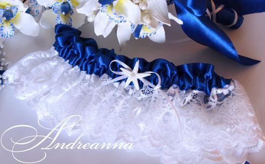Кружевная подвязка «Остров сокровищ» с морской звездой (в любом желаемом цвете), стоимость 150грн
