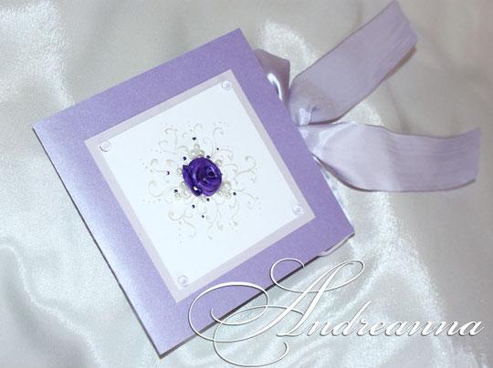 Упаковка для диска, с местом для фото, «сиреневая роза», стоимость 35 грн.