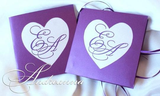 Упаковка на 2 свадебных диска, сердце с инициалами (в любом цвете). Стоимость 35грн