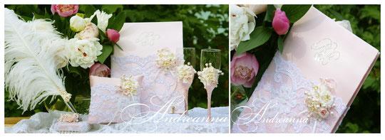 Папка для свидетельства «Прованс» с инициалами (кристаллы Swarovski ), цветы ручной работы, выполнение в любом желаемом цвете. Стоимость 550грн