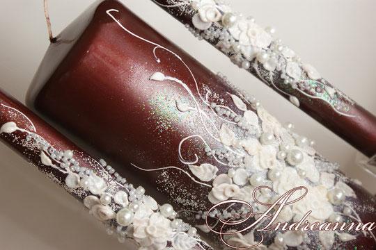 """Свечи для семейного очага """"Бордо"""" свечи возможно использовать любого желаемого цвета. Стоимость 700 грн"""