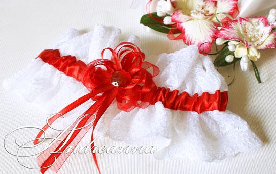 """Подвязка """"Moulin Rouge"""" (бело-красная)  стоимость 150 грн (в любом цвете)."""