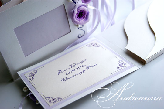 Именная упаковка для фотографий и диска, с местом под фото на обложке. Стоимость 100грн, роза ручной работы.