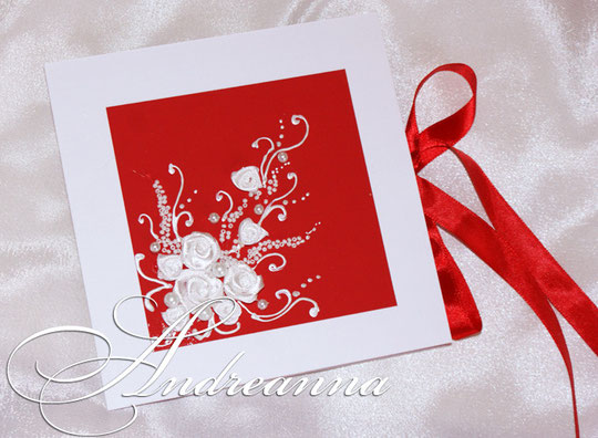 Упаковка для диска, с местом для фото, «Нежность чувств», красное и белое, стоимость 40 грн.