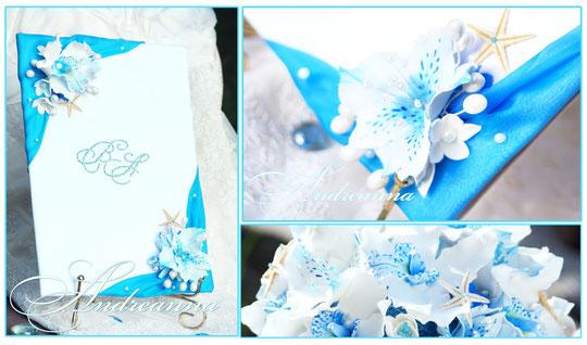 """Папка для свидетельства """"Аквамарин""""  с инициалами (написание или кристаллы Swarovski ), выполнение в любом желаемом цвете. Стоимость 650грн"""