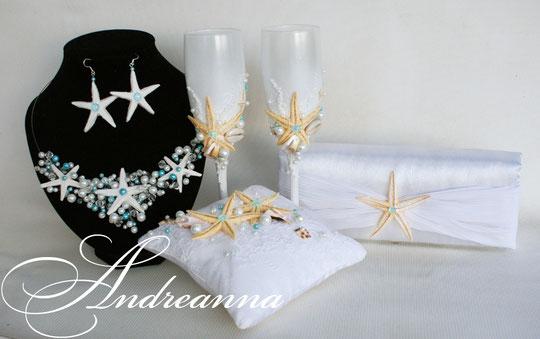 Клатч морская звезда, с плиссировкой, стоимость 450грн белый