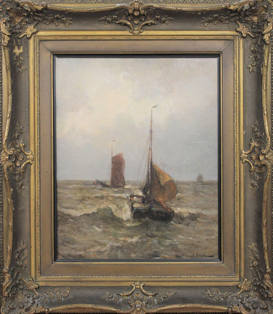 te_koop_aangeboden_een_zee_gezicht_van_de_duitse_kunstschilder_german_grobe_1857-1938