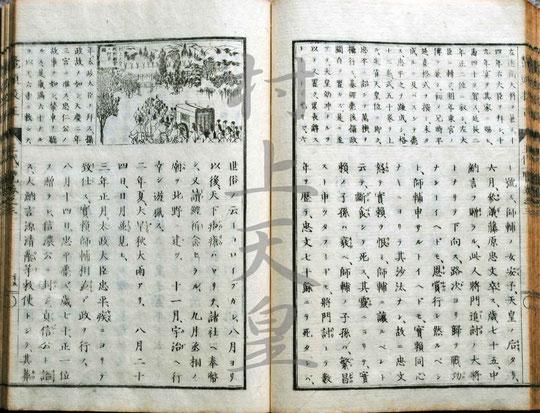 鼇頭挿画 校正王代一覧・村上天皇-2