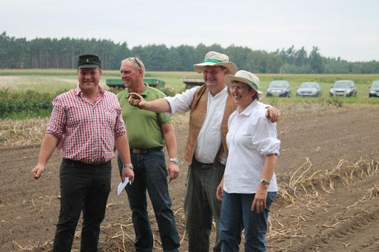 Christel Tiemann (Vorsitz) mit den Technikexperten Tobias Abel, Jörg Liestmann und Axel Tiemann