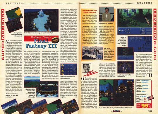 Final Fantasy III Videogames 12\94