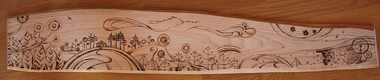 Wood Burning Work  No.01