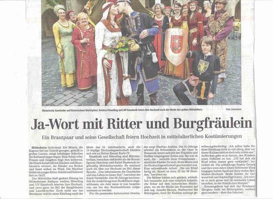 Hildesheimer Allgemeine vom 23.07.2011