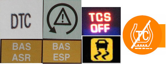 Traction Control Lights