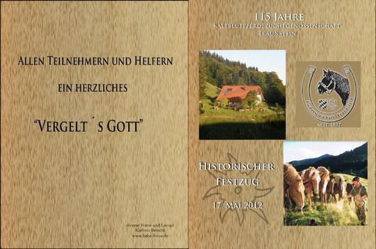 Jubiläumsbuch für die Kaltblutpferdezuchtegenossenschaft Traunstein
