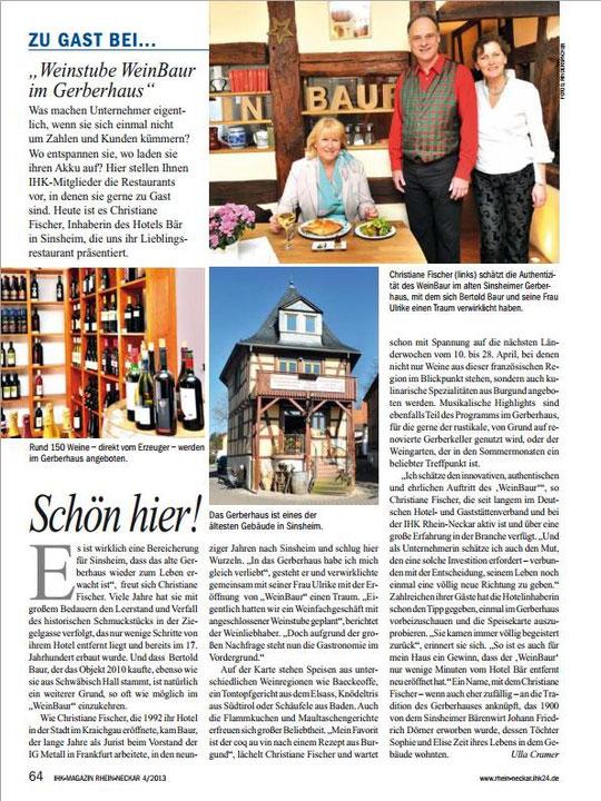 WeinBaur im IHK Magazin