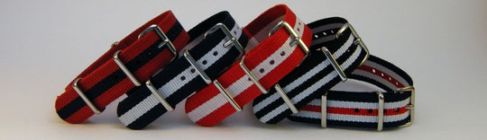 Gestreifte Uhrenarmbänder in Clubfarben von Joint Colours