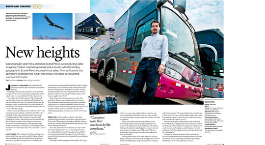 Work for Scania International Magazine.