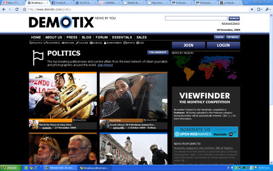 28/11/2009 Front Page of Demotix.com