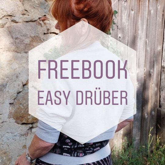 Katjuschka - Easy Drüber - Schlupfärmel - Cadigan - gratis Nähanleitung - freeBook - Was du brauchst