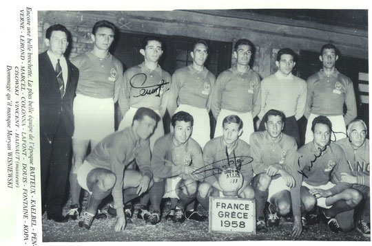 Lafont, sélectionné pour la coupe du monde 1958