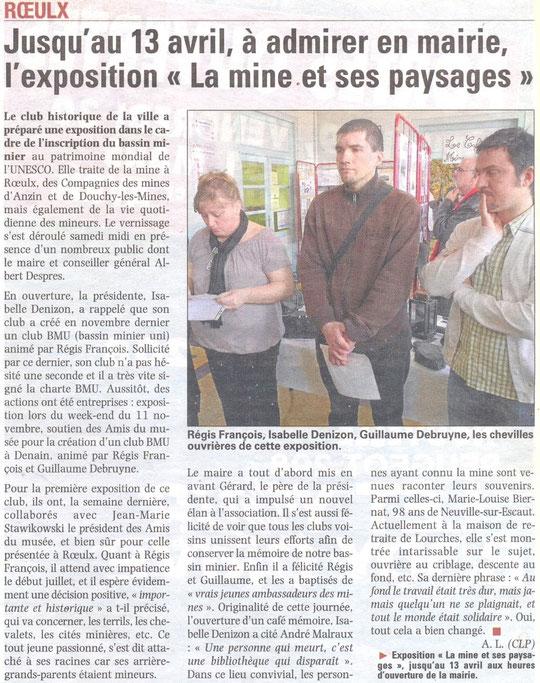 LA VOIX DU NORD 29 mars 2012