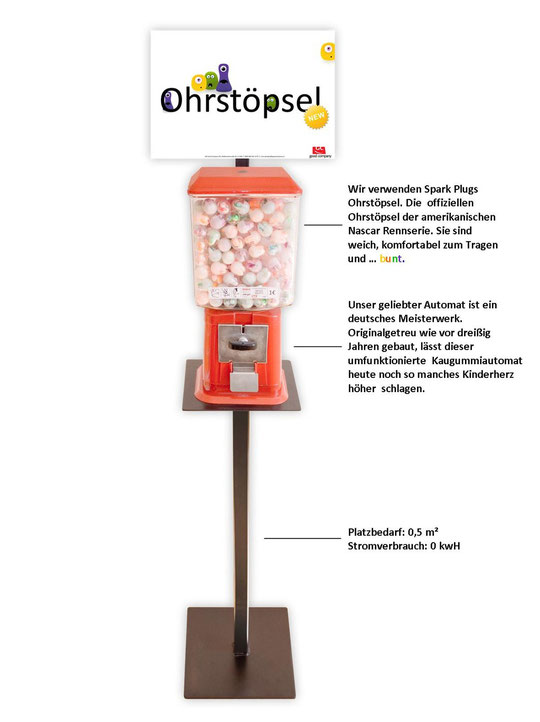 kostenloser Ohrstöpselautomat für Bibliotheken