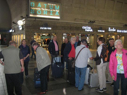 Vor der Abreise am Hauptbahnhof die Vorfreude auf Mainz