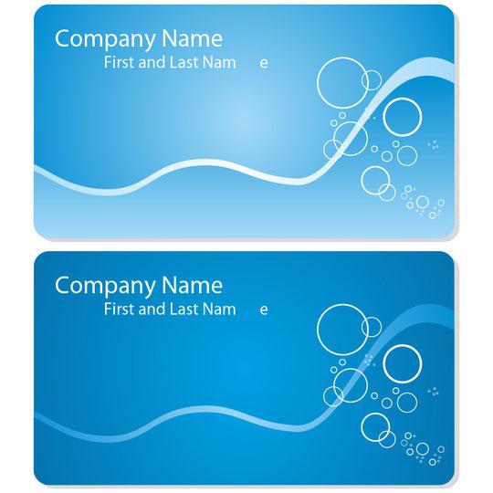海をイメージした名刺テンプレート Sea business card set