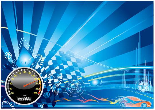 カー レースのコンセプト デザイン Car racing concept design vector graphic