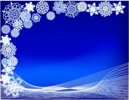 クリスマスの雪の背景 CHRISTMAS SNOWFLAKES VECTOR BACKGROUND6