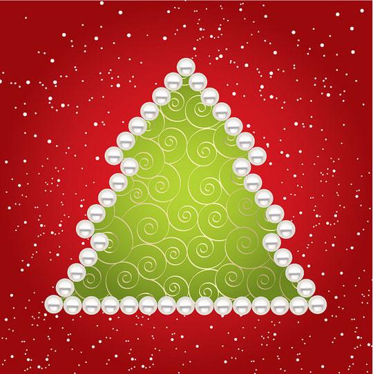 クリスマス・ツリーをイメージしたイラスト EXQUISITE CHRISTMAS TREE VECTOR4