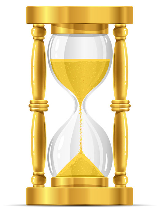 金色の砂時計 Gold sand glass clock vector graphic