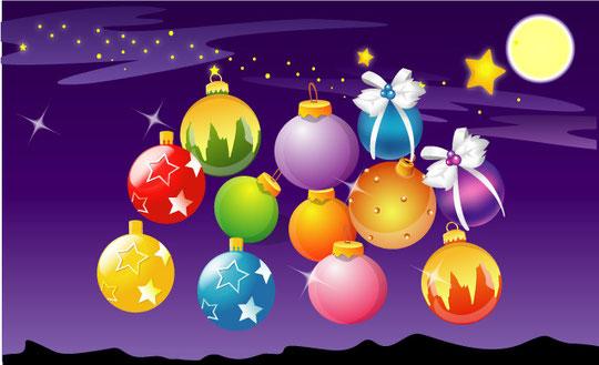 クリスマス飾りのイラスト christmas decoration element vector2