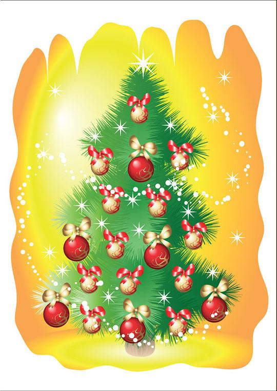クリスマス・ツリーをイメージしたイラスト EXQUISITE CHRISTMAS TREE VECTOR1