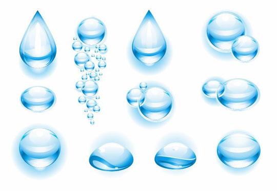 光に反射する水滴 Vector Water Drops