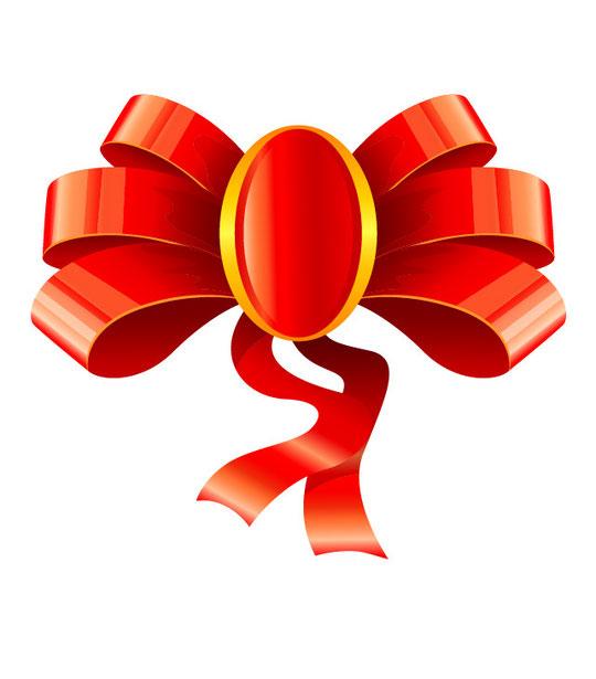ギフト用飾りリボン Ribbon for gift decoration vector