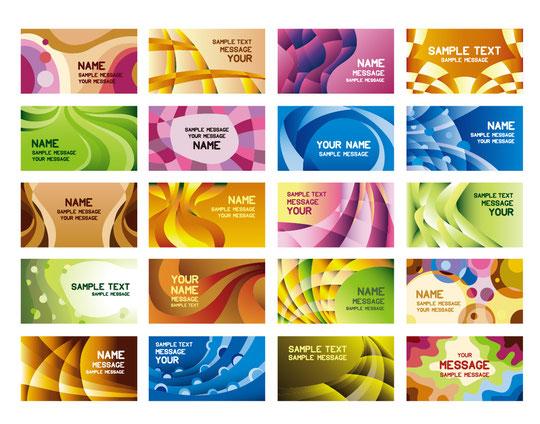 幾何学的な名刺テンプレート Business Cards Templates