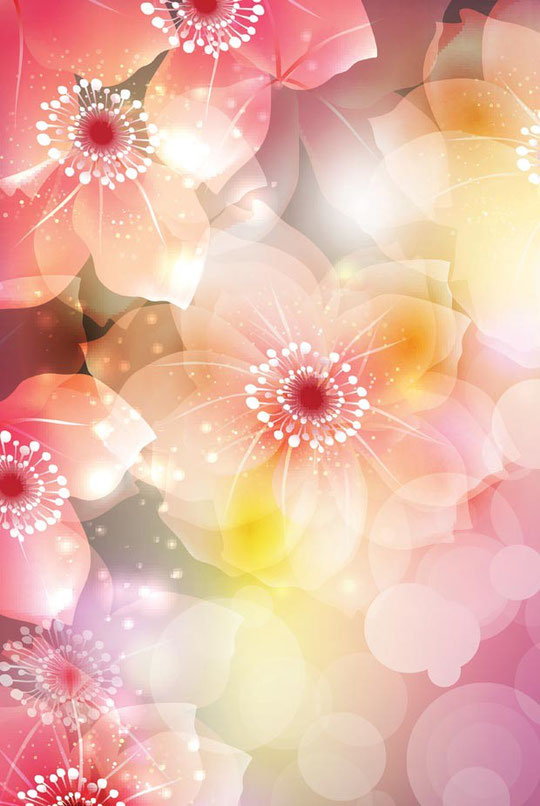 大きな花弁の背景 flower background vector