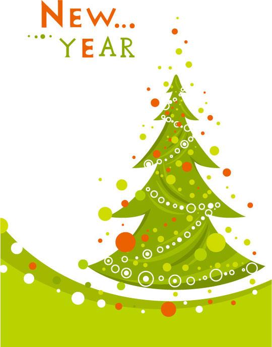 クリスマス・ツリーと飾り付けのボール CHRISTMAS TREES AND DECORATION BALLS